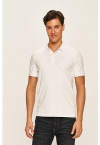 Biała koszulka polo Selected krótka, na co dzień