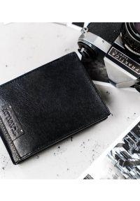 4U CAVALDI - Portfel męski czarny Cavaldi N992-NAD-BOX-1489 BL. Kolor: czarny. Materiał: skóra. Wzór: gładki