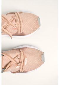 Różowe buty sportowe Liu Jo z cholewką, na średnim obcasie, na obcasie