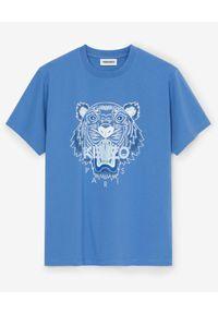 Kenzo - KENZO - Niebieska koszulka z tygrysem. Kolor: niebieski