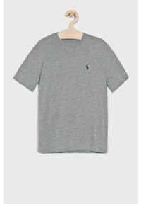 Szary t-shirt Polo Ralph Lauren melanż, na co dzień
