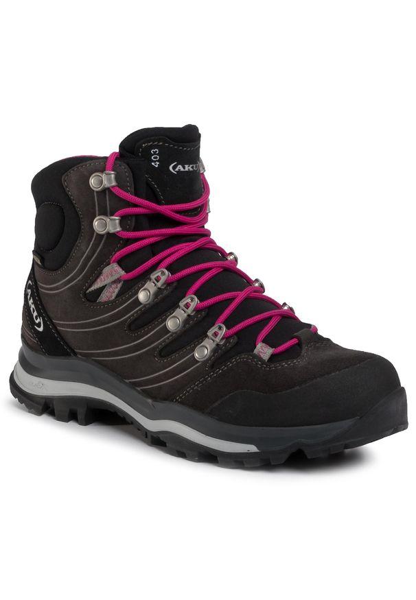 Szare buty trekkingowe Aku Gore-Tex, trekkingowe, z cholewką