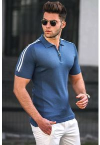 Niebieski t-shirt IVET na co dzień, polo