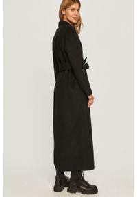Czarny płaszcz TwinSet klasyczny, bez kaptura, na co dzień