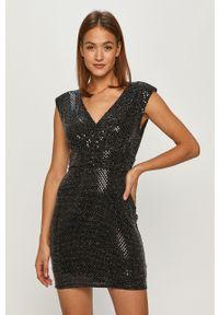 Czarna sukienka Morgan bez rękawów, z aplikacjami, mini