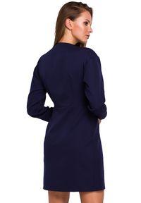 Sukienka wizytowa asymetryczna, mini