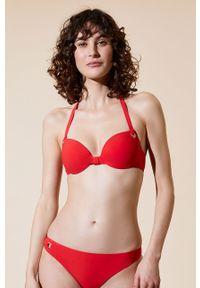 Czerwony strój kąpielowy dwuczęściowy Etam z fiszbinami
