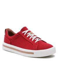 Czerwone sneakersy Clarks