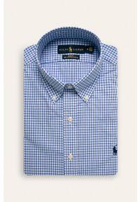Niebieska koszula Polo Ralph Lauren polo, casualowa, długa