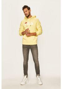 Żółta bluza nierozpinana Fila casualowa, na co dzień