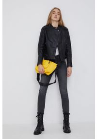 Pepe Jeans - Ramoneska Lenna. Okazja: na co dzień. Kolor: czarny. Styl: casual