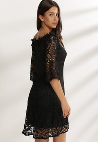 Renee - Czarna Sukienka Glysvienne. Kolor: czarny
