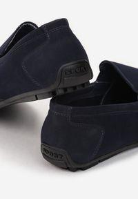 Born2be - Granatowe Półbuty Linelis. Wysokość cholewki: przed kostkę. Nosek buta: okrągły. Zapięcie: bez zapięcia. Kolor: niebieski. Materiał: skóra. Szerokość cholewki: normalna. Styl: klasyczny