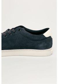 Niebieskie sneakersy TOMMY HILFIGER z cholewką, z okrągłym noskiem