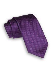 Alties - Różowo-Granatowy Stylowy Klasyczny Męski Krawat -ALTIES- 7cm, Fuksjowy, Szeroki, w Drobny Wzór. Kolor: niebieski, różowy, wielokolorowy. Materiał: tkanina. Wzór: geometria. Styl: klasyczny, elegancki