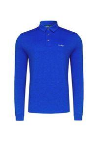 Niebieska koszulka polo Chervo melanż, polo