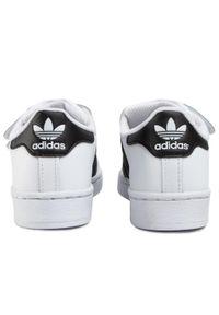 Białe półbuty Adidas na rzepy, z cholewką, na spacer