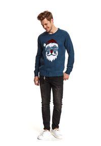 Niebieski sweter TOP SECRET