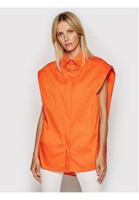 Imperial Koszula CJU2BBE Pomarańczowy Oversize. Kolor: pomarańczowy