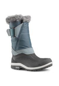 quechua - Buty turystyczne śniegowce WARM WTP - SH500 X-WARM - wysokie damskie. Zapięcie: rzepy. Kolor: wielokolorowy, szary, niebieski. Materiał: materiał. Sezon: zima