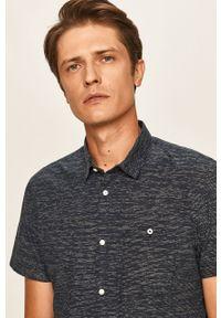 Niebieska koszula Tom Tailor Denim z krótkim rękawem, krótka, na co dzień