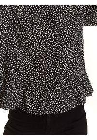 Czarna bluzka TOP SECRET długa, z długim rękawem