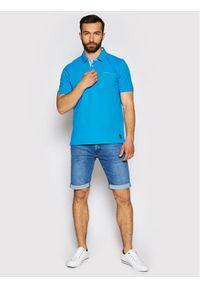 Pierre Cardin Polo 52084/000/11255 Niebieski Regular Fit. Typ kołnierza: polo. Kolor: niebieski