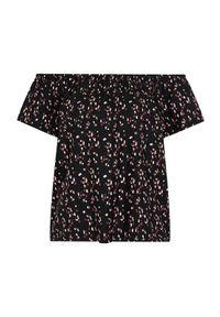 Happy Holly Wzorzysta bluzka z opuszczanym dekoltem Fredrika Czarny we wzory female czarny/ze wzorem 40/42. Kolor: czarny. Materiał: tkanina, guma. Styl: klasyczny