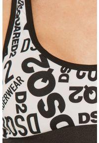 Czarny biustonosz sportowy DSQUARED2 z odpinanymi ramiączkami