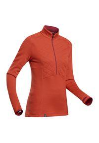 FORCLAZ - Koszulka trekkingowa damska z długim rękawem Forclaz TREK 900 MERINO. Typ kołnierza: kołnierzyk stójkowy. Materiał: materiał, wełna, akryl, poliamid, poliester. Długość rękawa: długi rękaw. Długość: długie