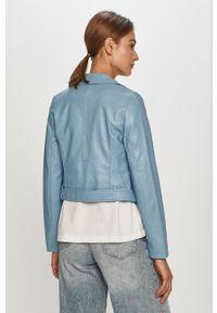 Niebieska kurtka TALLY WEIJL na co dzień, casualowa, bez kaptura, gładkie