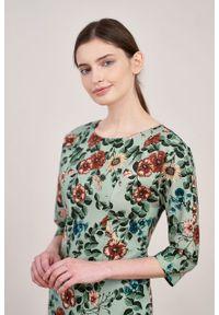 Marie Zélie - Sukienka Milena Flores. Materiał: materiał, wiskoza, bawełna, elastan. Typ sukienki: proste