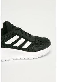 Czarne buty sportowe Adidas z cholewką, na platformie