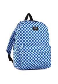 Vans - Plecak VANS - Old Skool III B VN0A3I6RZZ41 Victoria Blue Check. Kolor: biały, wielokolorowy, niebieski. Materiał: materiał