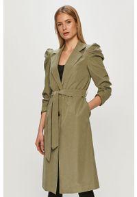 Zielony płaszcz Jacqueline de Yong na co dzień, gładki, casualowy, bez kaptura