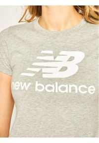 New Balance T-Shirt Essentials Stacked Logo Tee WT91546 Szary Athletic Fit. Kolor: szary