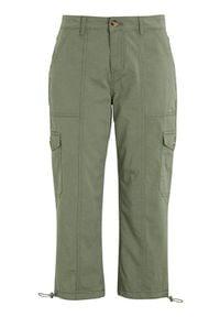 Cellbes Bojówki ze szwami ozdobnymi khaki female zielony 64. Kolor: zielony. Materiał: bawełna. Styl: klasyczny
