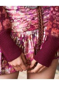 LOVE SHACK FANCY - Różowa spódnica Moe. Kolor: wielokolorowy, różowy, fioletowy. Materiał: materiał. Wzór: nadruk, kwiaty. Sezon: jesień