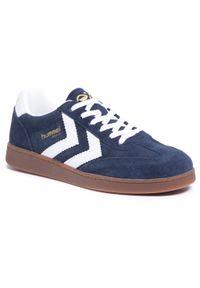 Niebieskie sneakersy Hummel z cholewką