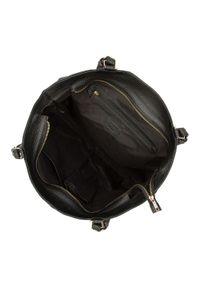 Wittchen - Torebka shopperka skórzana z pionowym suwakiem. Kolor: czarny. Wzór: haft, aplikacja. Dodatki: z haftem. Materiał: skórzane. Styl: biznesowy, casual, elegancki. Rodzaj torebki: na ramię