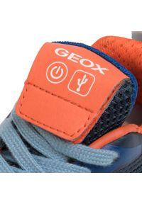 Niebieskie półbuty Geox z cholewką