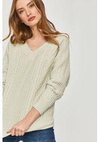 Miętowy sweter Answear Lab gładki, długi, z długim rękawem, wakacyjny