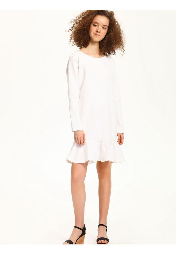 Biała sukienka TROLL casualowa, na jesień