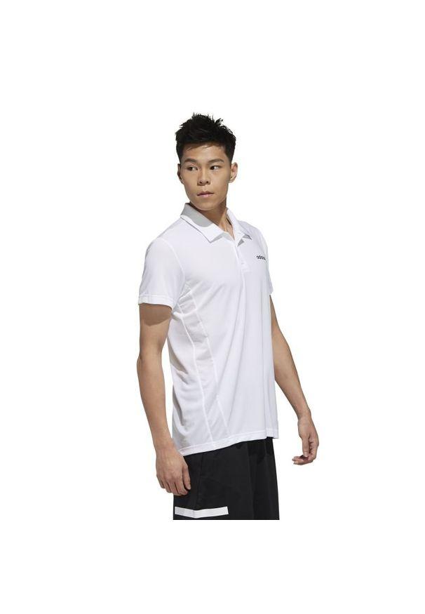 Koszulka sportowa Adidas polo, na fitness i siłownię, w kolorowe wzory