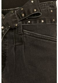 Czarne jeansy loose fit medicine z podwyższonym stanem