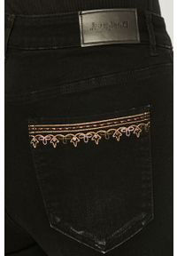 Czarne jeansy Desigual z haftami