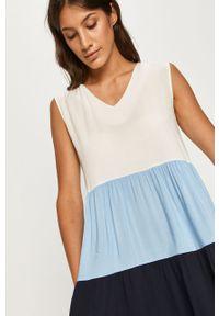 Niebieska sukienka ANSWEAR na ramiączkach, na co dzień, prosta