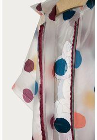 Biały płaszcz OVS z kapturem, z motywem z bajki
