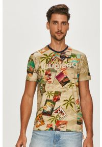 Wielokolorowy t-shirt Desigual