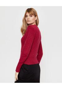 Czerwony sweter z długim rękawem, casualowy